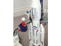 Playmobil space rocket and shuttle