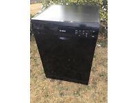 Bosch black dishwasher SMS50T06G + 3 year warranty remaining