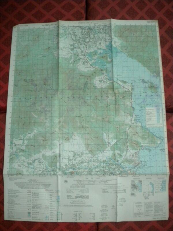 NINH HOA just north of Nha Trang Vietnam map 6833 IV