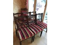 Antique dining room chairs x 6