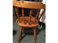 Wooden dining/desk chair