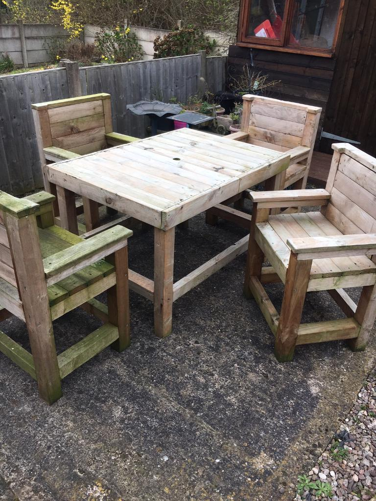 Garden table and 4 chairs   in Telford, Shropshire   Gumtree