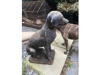 Vintage garden dog statue