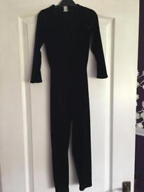 Black velvet Cat Suit