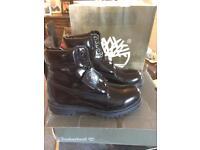 Timberland boots , shiny waterproof NEW