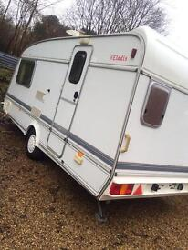 Elddis Hurricane GT 2 berth 1996 in good condition for a reasonable price