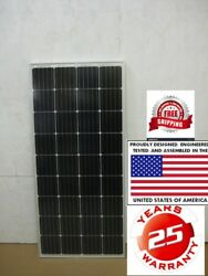 2- 200 Watt 12 Volt Battery Charger Solar Panel Off Grid RV Boat 400 watt total