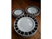 Assorted plates - mid century design