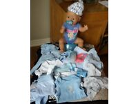 Baby born boy doll with assessories