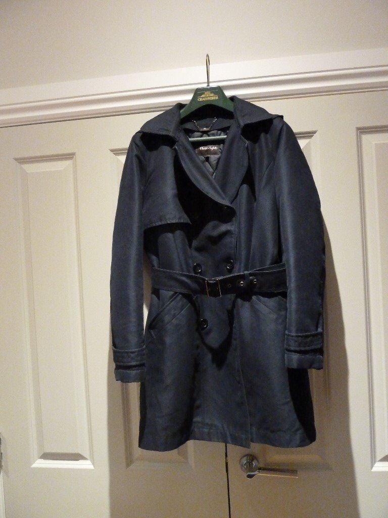 ed7b1d4a9023 Phase Eight Navy Trench Coat size 12 as New