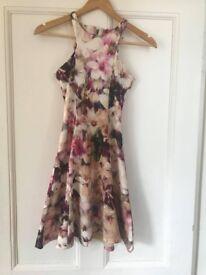 pink soda floral skater dress size 8