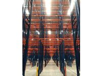 job lot 80 bays of redirack pallet racking 9 meters high AS NEW( storage , shelving )