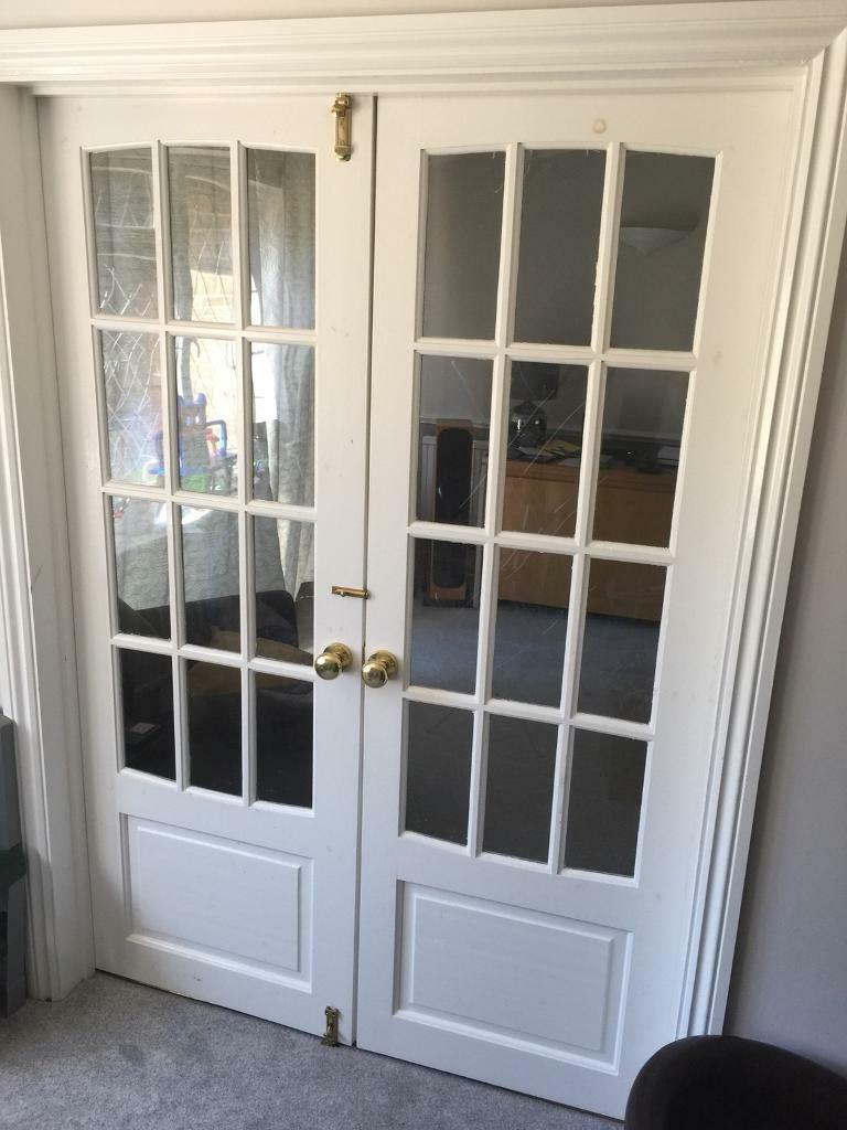 Internal French Double Doors In Church Crookham