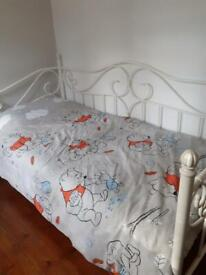 Bed single white