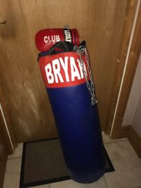 Boxing punch bag and mits