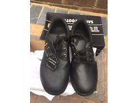 Mens leather safety shoes size uk 7.5 Brand new in box bargin
