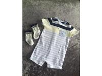 Stripe Hugo boss romper & socks