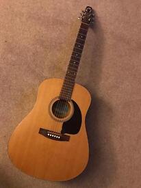 Seagull S6 Acoustic Guitar Solid Top Dreadnaught Cedar, Handmade in Canada by Godin.