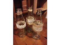 Shabby chic wedding accessories 20 bottles