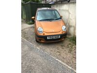 Daewoo matiz for sale. 2 owners from new. no mot.