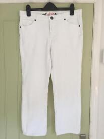 White Stuff cropped jeans size 10