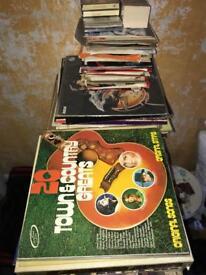 Record albums job lot.