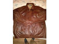 Ralph Lauren POLO Leather Jacket XXXL to XXXXL Dark brown lambs leather very large Bradford jacket