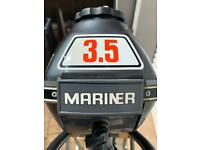 Classic Mariner/Yamaha 3.5 Hp Outboard Boat Engine. Great for historic Dingy Tender yacht Punt Rib