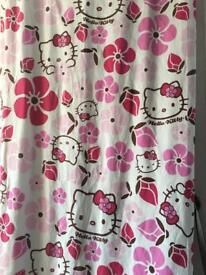 One pair curtains HELLO KITTY