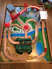 ELC train table and car set
