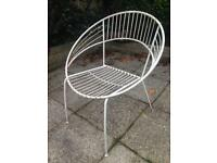 Retro white painted metal chairs Bargain!