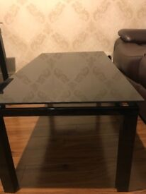 Glass coffee table black