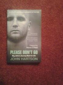 John Hartson Book & also DVD for sale.
