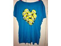 Plus Size Minion Heart T-Shirt