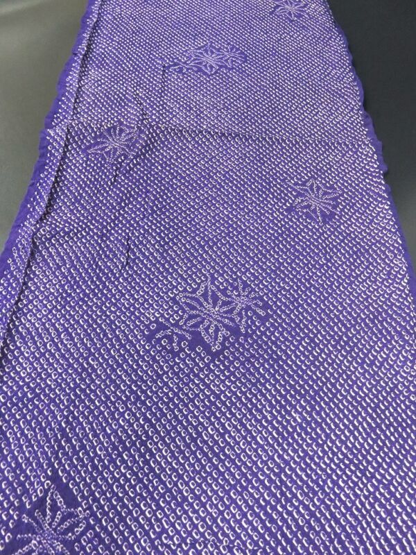FF#2346Ad60 Vintage Silk Kimono Fabric Shibori 57.1x11.8in(145x30cm)
