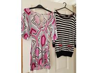 Bundle of 5 Womens Tops & 1 Jumper Size UK 12 Inc Topshop & La Redoute