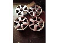 Saab alloy wheels set off 4