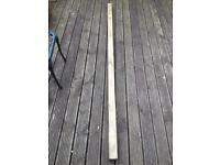 Wooden fence post 240cm long (7ft 10 inches)