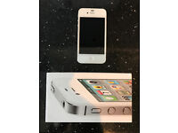Apple iPhone, 4S, 64GB, White. Unlocked To All Networks. Mint Condition. Boxed With All Accessories.
