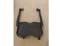 Black mothercare buggy board with fittings