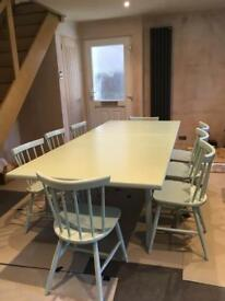 Bargain! 8 chairs and family sized extending table
