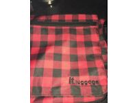 IT Luggage Red check cross body messenger bag