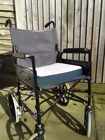 Collapsible Wheelchair with gel cushion