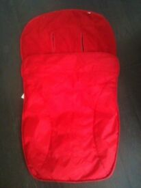 Red zipped buggy insert from Mothercare