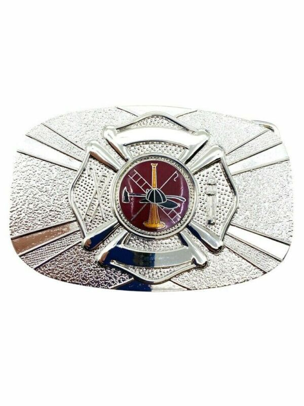 Canadian Fire Department Silver Coloured Belt Buckle