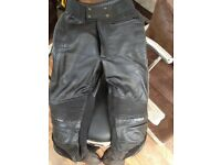 Genuine leather Furgan motorbike trousers