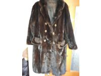 Vintage full length fur coat,