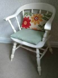 Solid wood farmhouse / shabby chic chair