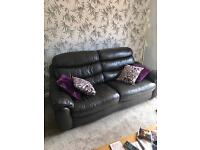 3 seater 2 seater leather sofa for sale