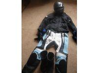 Hein Gericke Ladies Motor bike helmet and clothing